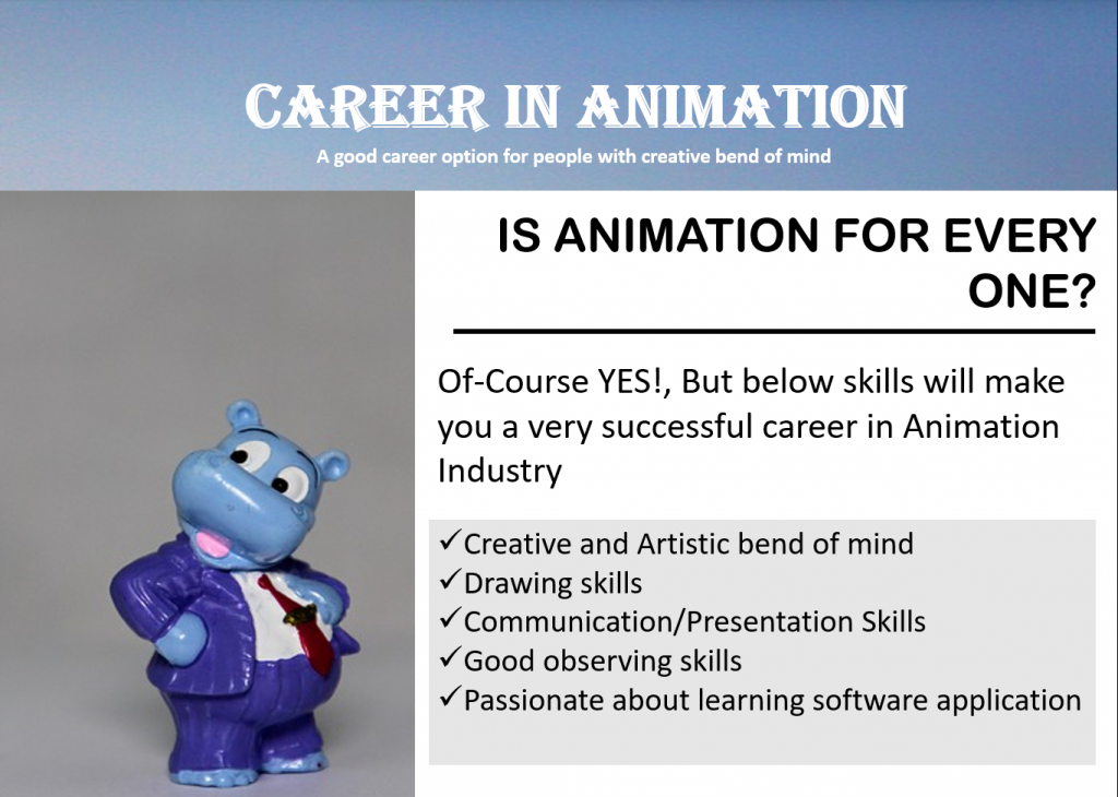 career in animation - career option after 12th