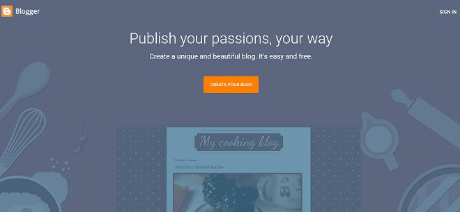 the blogging platform from blogger
