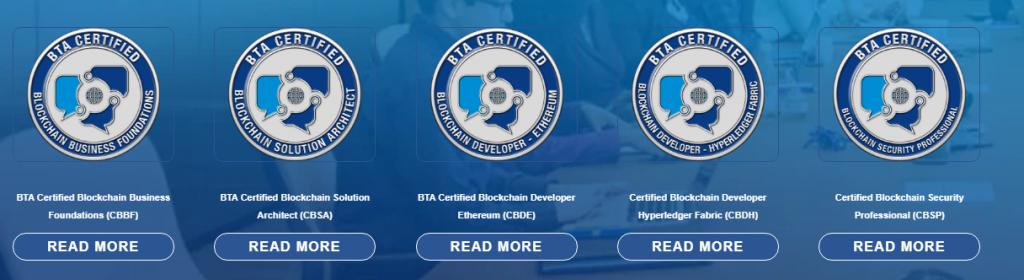 BTA Certifications