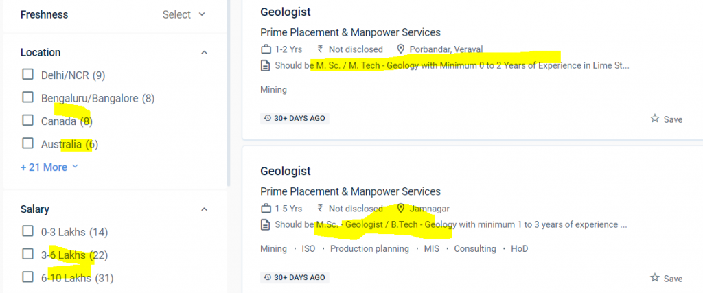 geologist jobs