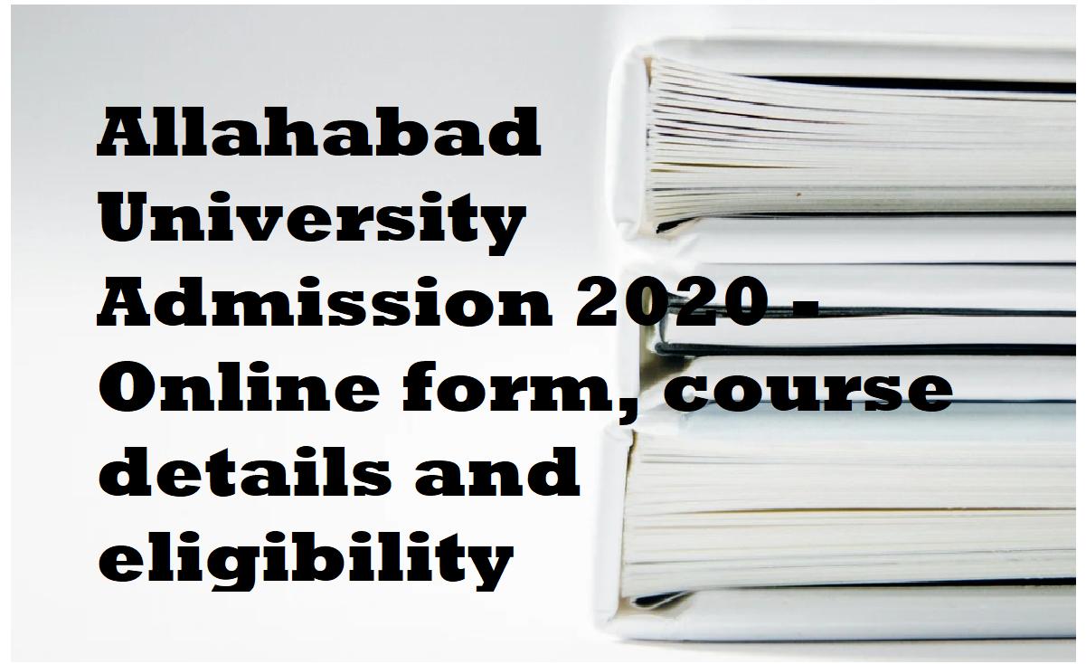 Allahabad Univ Admisions