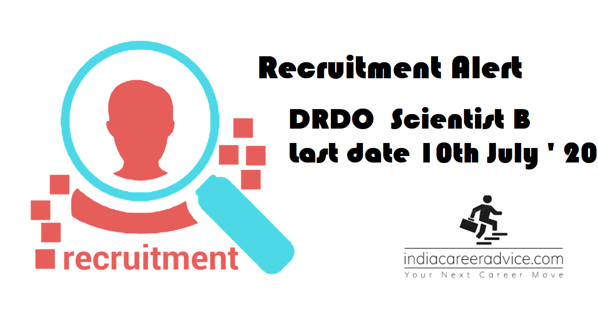 DRDO scientist B recrtuitment