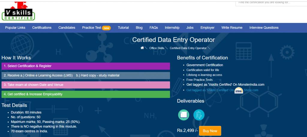 certofoed data entry opertpr