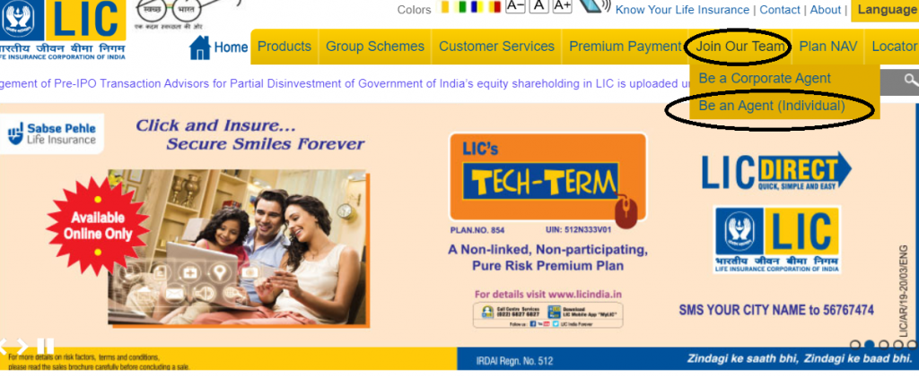 career in LIC - Apply for LIC Agent online