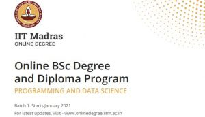 online bsc in programming and data science