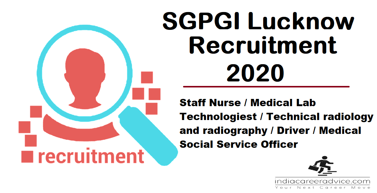 SGPGI Lucknow Recruitment 2020