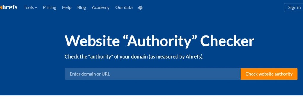 ahref - why Domain Authority is important