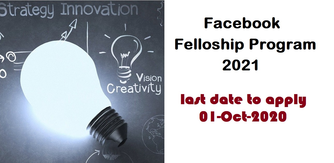 Facebook Fellowship Program 2021